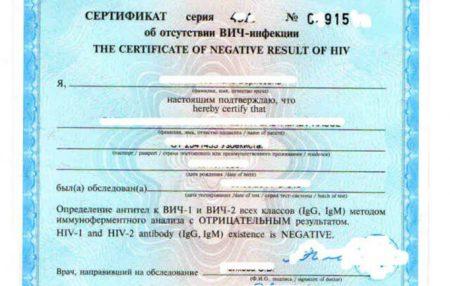 Справка об отсутствии ВИЧ