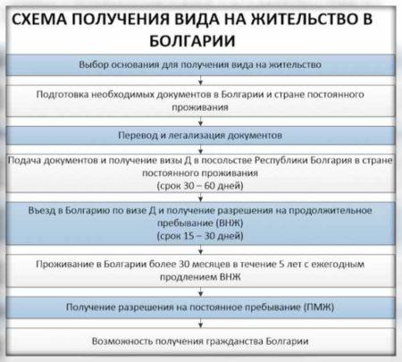 Схема получения вид на жительство