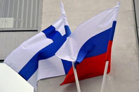 Флаг РФ и Финляндии