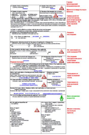 Анкета во Францию