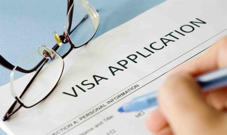 Заполнение визы