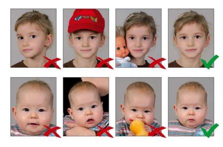 Фото детей на визу