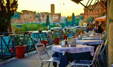 kafe v Italii