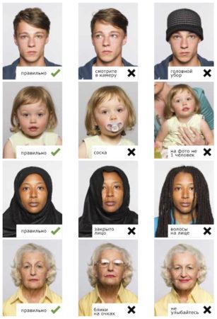 примеры правильного фото для визы