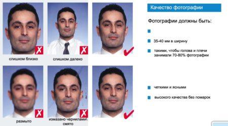 ошибки фото для визы