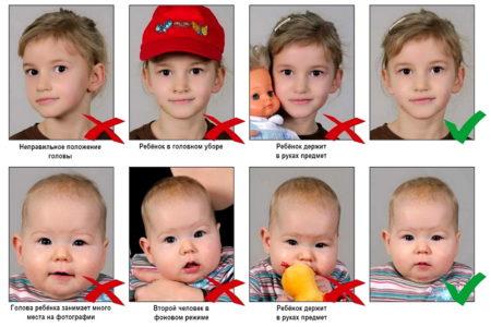 детские фото для визы